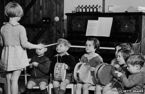 Children at a nursery school in 1942