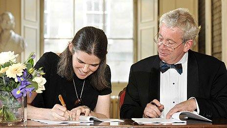 Prof Daphne Koller, Co-Founder of Coursera and Professor Sir Timothy O'Shea, Principal of The University of Edinburgh
