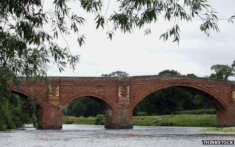 View of bridge in Eden, Cumbria