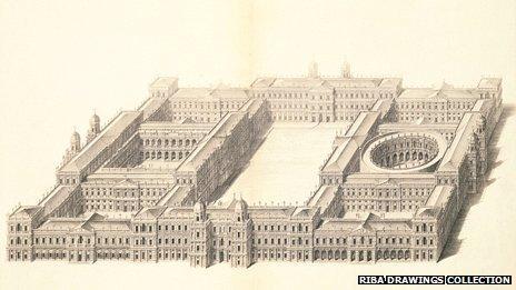 Inigo Jones' plan of Whitehall Palace