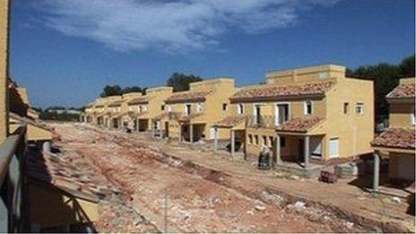Spanish property unfinished