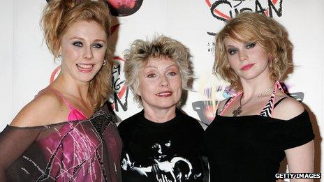 Blondie singer Deborah Harry (centre) with actresses Emma Williams (right) and Kelly Price (light) at the launch for Desperately Seeking Susan in 2007