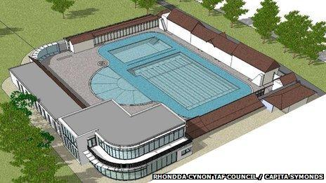 Artist's impression of how the lido would look
