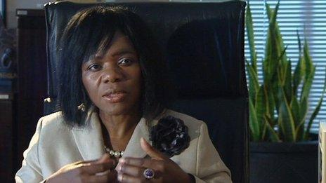 """Thuli Madonsela seen in the BBC World News programme Our World: """"Corruption crusader"""""""