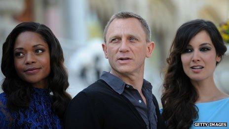 Daniel Craig, Berenice Marlohe and Naomie Harris