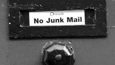 No Junk Mail on mailbox