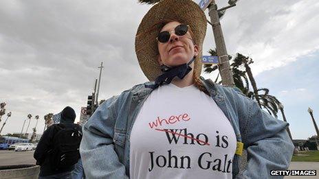 Tea Party protester