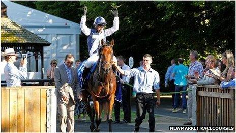 Matthew Hancock MP on racehorse