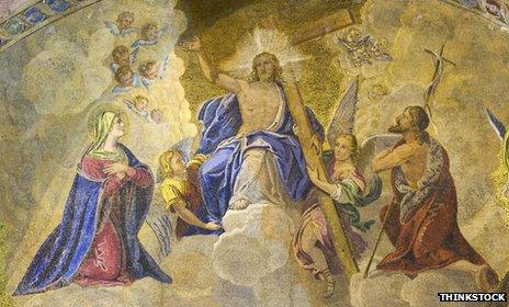 Mural showing Jesus