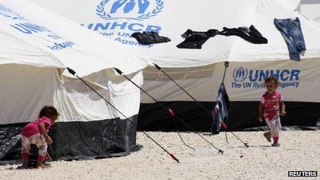 Syrian refugee camp in Jordan, file pic