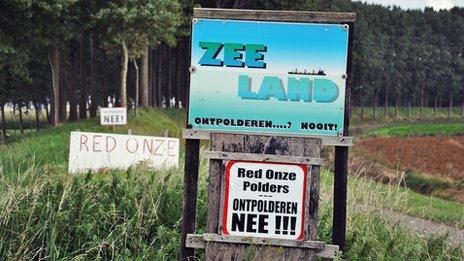 A poster in Zeeland, south-western Netherlands