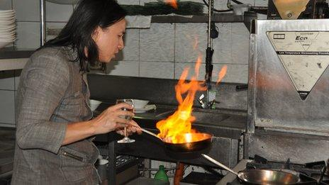 Rolando Laudico hard at work in the kitchen