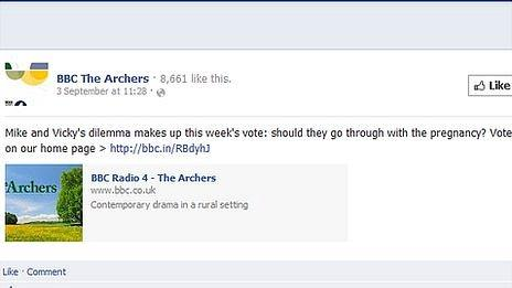 The Archers Facebook page
