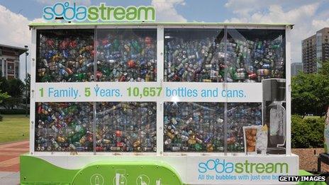 SodaStream promotion at Centennial Olympic Park in Atlanta, Georgia, US