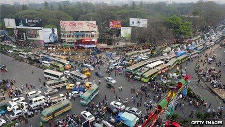 Dhaka jam