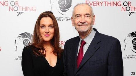 Barbara Broccoli and Michael G Wilson arrive at the screening of Everything Or Nothing at the Odeon West End in London on 1 October