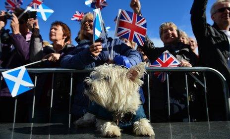 Parade in Scotland
