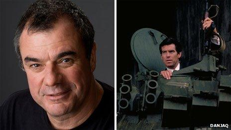 Chris Corbould and a scene from Goldeneye