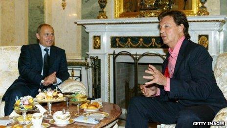 Paul McCartney and Vladimir Putin