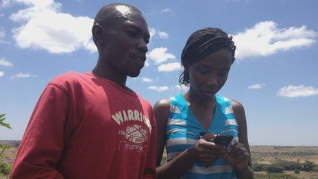 Charles Mbatha and Susan Oguya