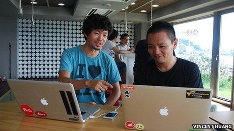 Yusuke Takahashi (L) and Atsushi Nagase