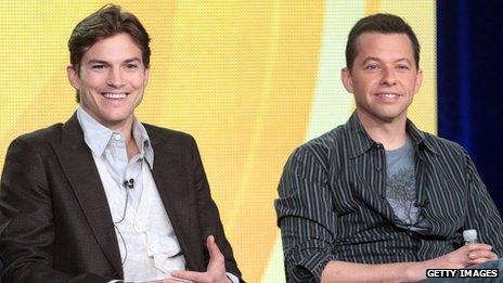 Ashton Kutcher and Jon Cryer
