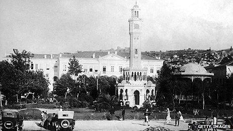 Government buildings in Izmir (then Smyrna) circa 1920
