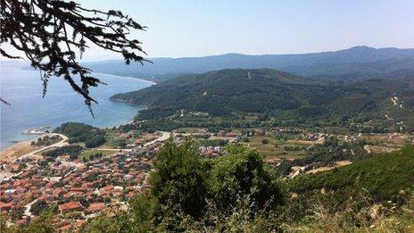 View of Olympiada and Zepko area