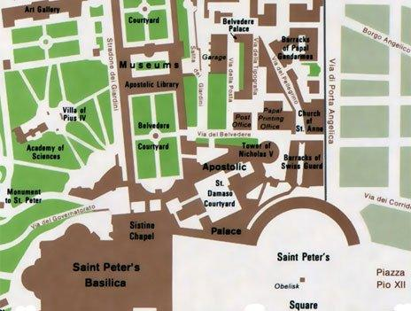 Map of the Vatican