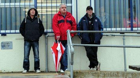 Spectators at Nottingham Forest Ladies match