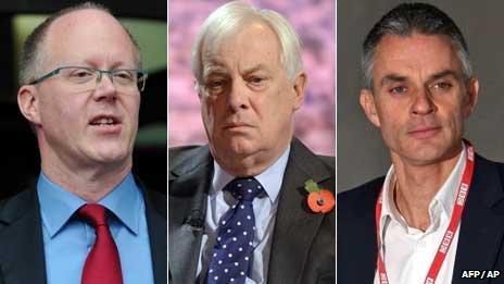 George Entwistle, Lord Patten and Tim Davie
