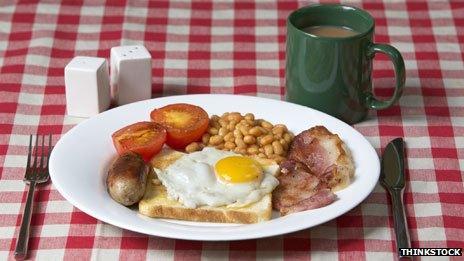 Fry-up breakfast
