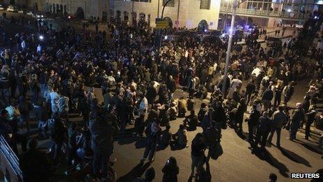 Protest in Amman (15 November 2012)