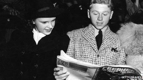 Judy Garland and Mickey Rooney in 1936
