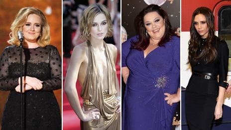 Adele, Kiera Knightley, Lisa Riley, Victoria Beckham