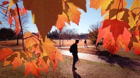 University in the autumn