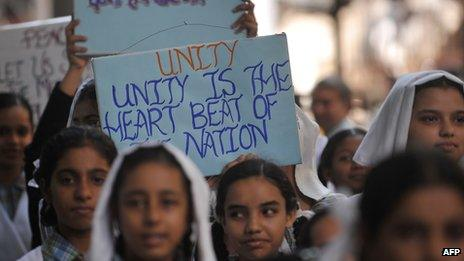 Peace procession in India