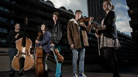 Members of the National Youth Orchestra