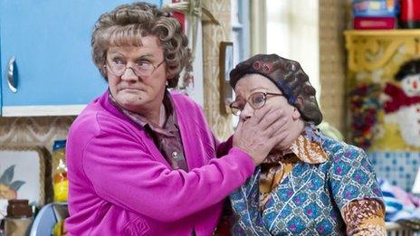 Mrs Brown's neighbour Winnie is played by O'Carroll's sister Eilish
