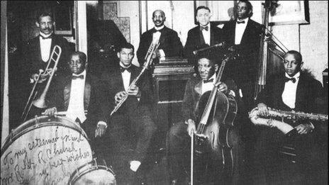 Handy's band in 1918