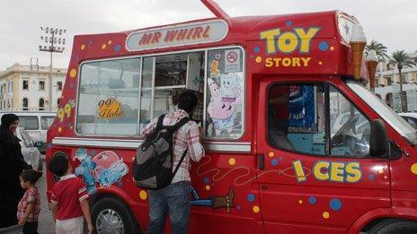 Ice cream van in Tripoli