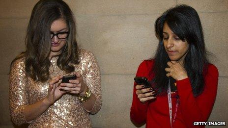 Journalists tweeting updates