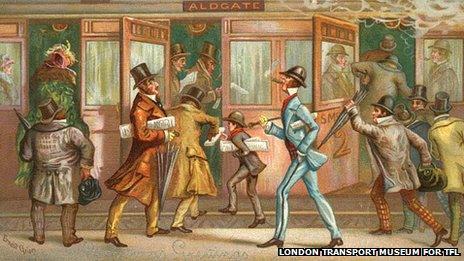 A Christmas card showing Metropolitan Railway