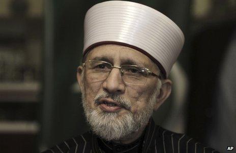 Dr Tahirul Qadri in Lahore, Pakistan, 9 January