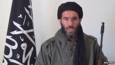 Mokhtar Belmokhtar in a screen capture from an undated video distributed by the Belmokhtar Brigade (16 January 2013)