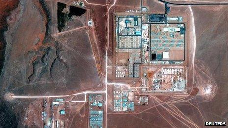Aerial map of in amenas site