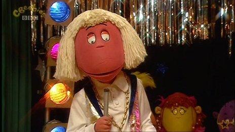 Tweenies character Max dressed as Jimmy Savile
