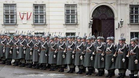 File photo of Austrian soldiers in Vienna