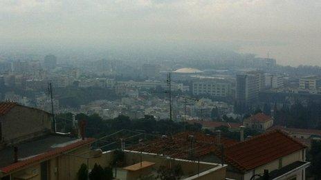 Smog over Thessaloniki