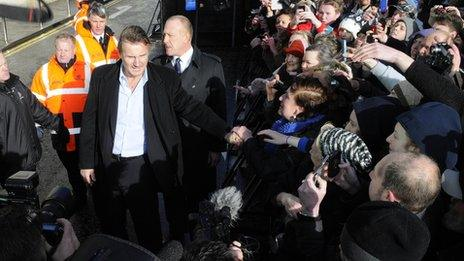 Liam Neeson and fans